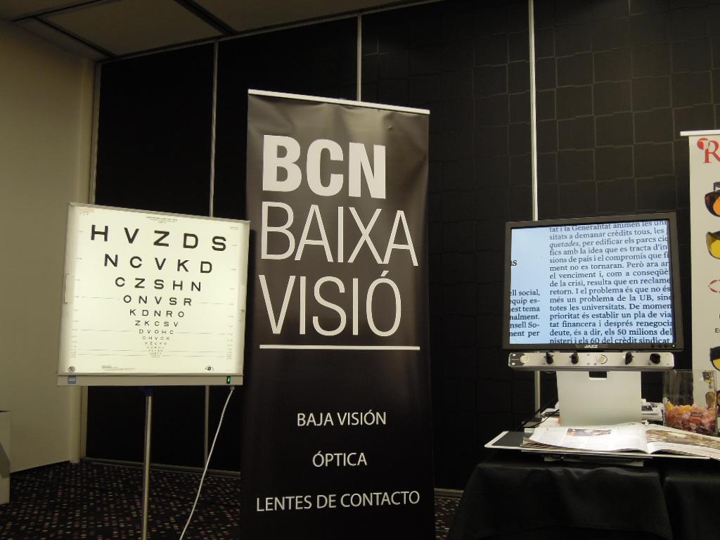 Stand de BCN Baixa Visió en el Congreso de la Sociedad Catalana de Oftalmología