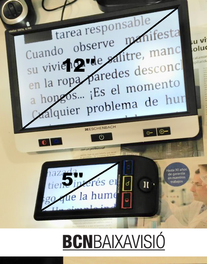 Lupa electrónica portátil Visolux HD XL