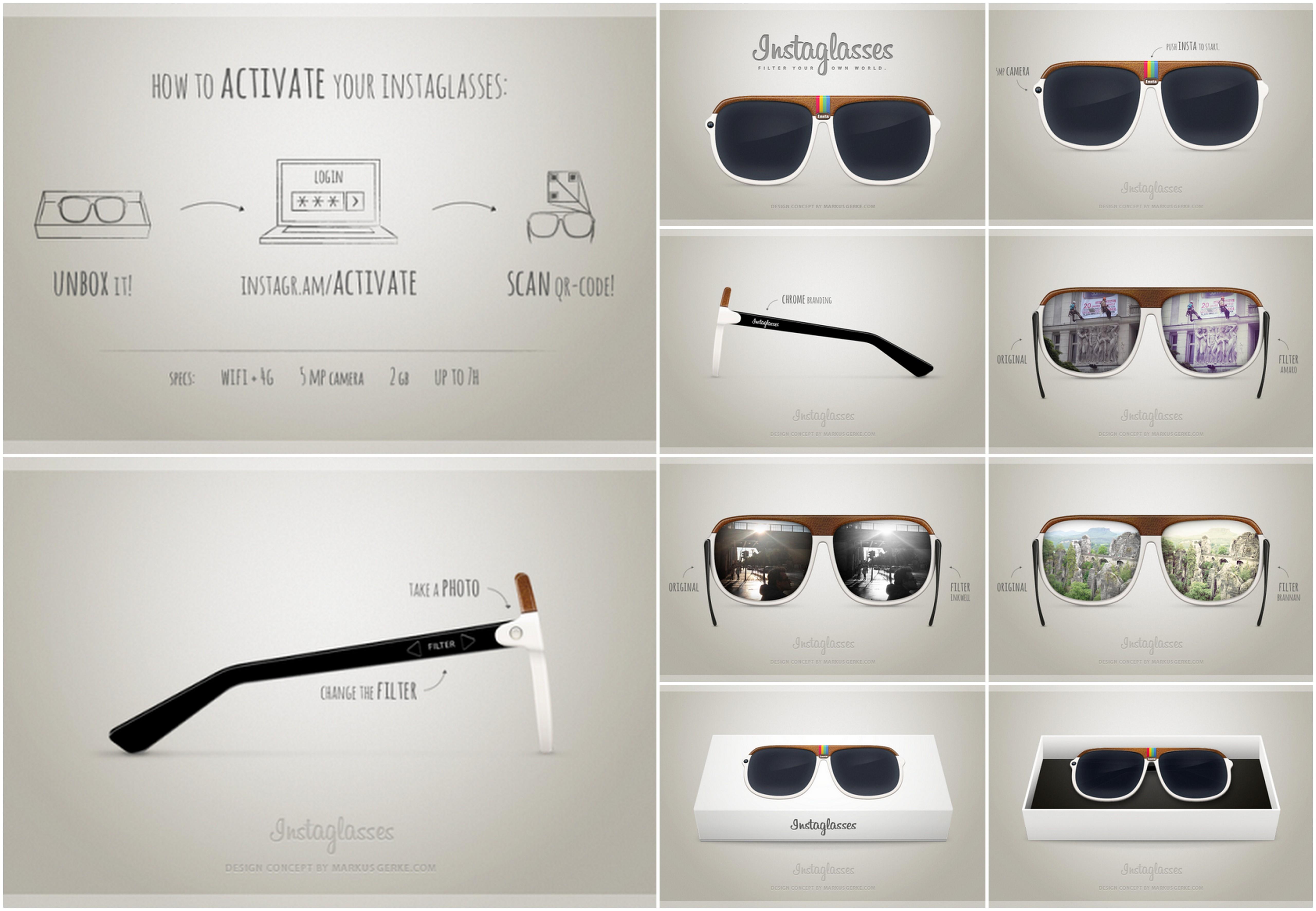 Gafas con filtros de Instagram